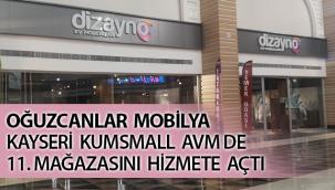 Oğuzcanlar Mobilya Kayseri KUMSmall AVM de 11. Mağazasını Hizmete Açtı
