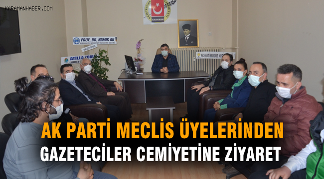 AK Parti Meclis Üyelerinden Gazeteciler Cemiyetine Ziyaret