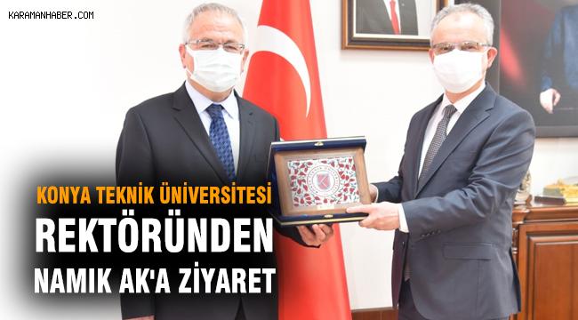 Konya Teknik Üniversitesi Rektöründen Namık Ak'a Ziyaret