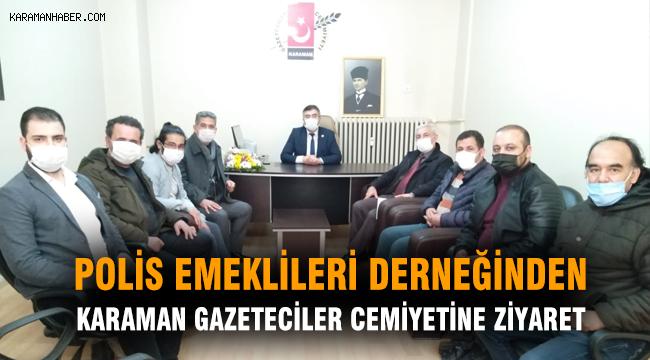 Polis Emeklileri Derneğinden Karaman Gazeteciler Cemiyetine Ziyaret